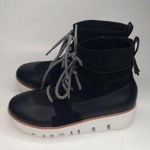 FitFlop Ultraknit Black Sock Platform Sneaker